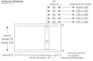 Plato de ducha fusión procelánico y compacto, modelo California