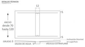 Plato de ducha fusión procelánico y compacto, modelo Nueva York